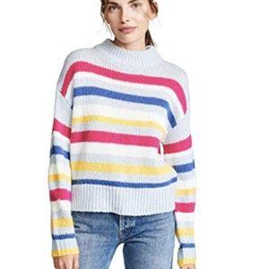 Rebecca Minkoff Striped Brittany Knit Sweater S